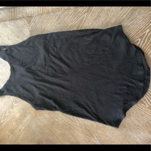 Lululemon pima cotton black tank top size 2